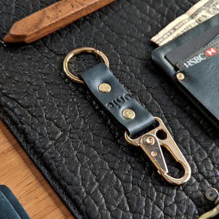Leather Carabiner hook keychain