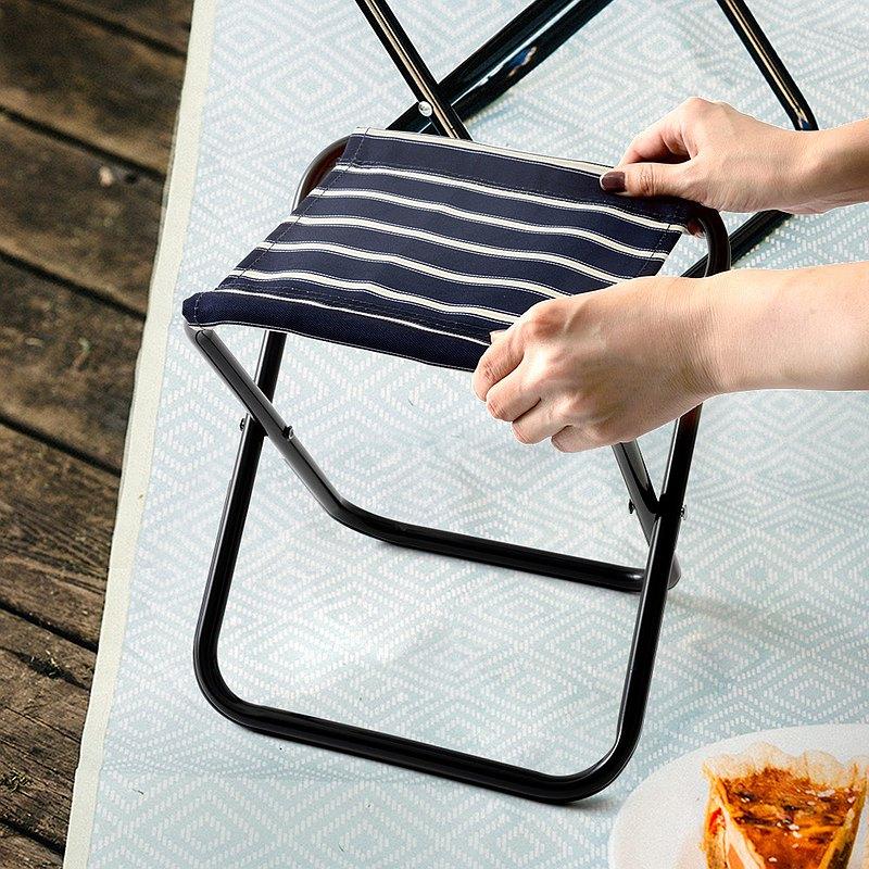 日本BRUNO 野餐露營迷你摺疊椅(附收納袋)(藍色)