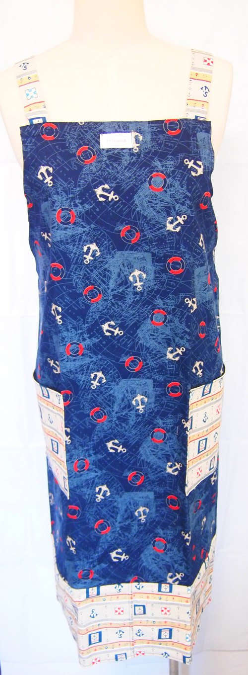 Dark blue sailor totem aprons