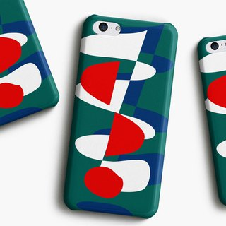 Triplet - red Phone case