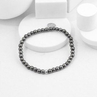 Recovery 4MM Beaded Bracelet (Black Gallstone)