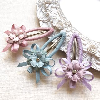 Romantic flower leaf hair clip