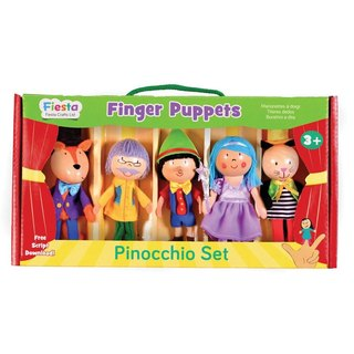 [UK Fiesta moving hands +] play small creative creativity finger even Pinocchio Toys (5 groups)