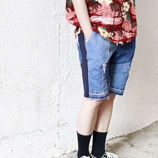 Denim Patchwork easy shorts