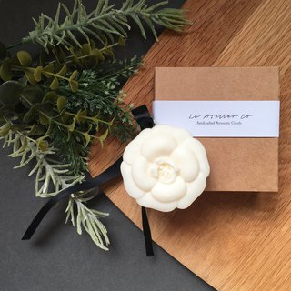 Scented Soy Wax Sachet | Air Freshener | Camellia Ornament | Fragrance Tablet |