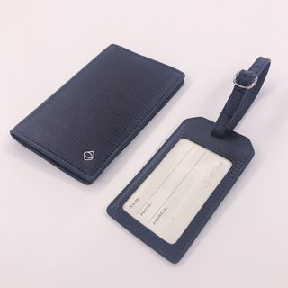 【La Fede】 leather security passport holder + luggage tag discount portfolio
