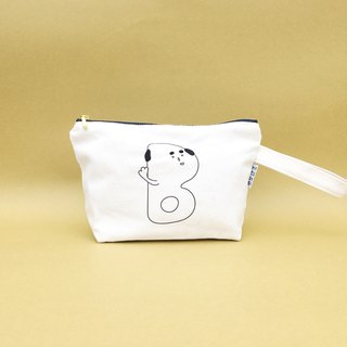 B | Bald Embroidery Cosmetic Bag