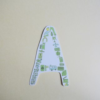 English alphabet stickers AE