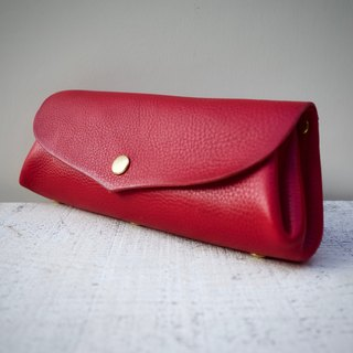"Italian leather * Corocoro wallet ""fave"" L Scarlet"