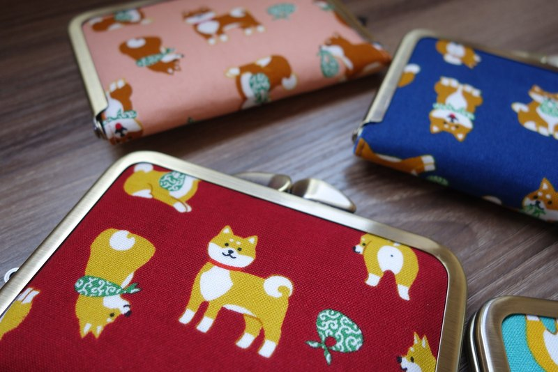 Swing hand Carpenter Shiba Inu card package purse mouth gold package