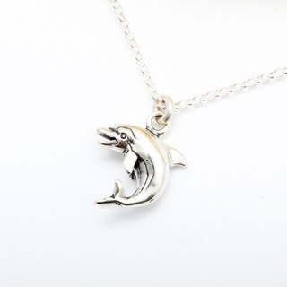 Dolphin s925 sterling silver necklace Valentine's Day gift