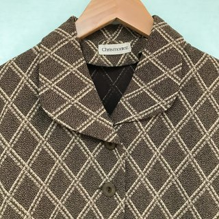 Outer / Brown Checkered Long-sleeves Outer
