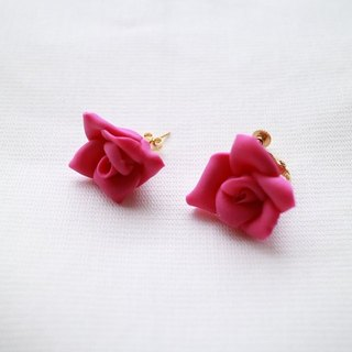 Baum Rose earrings / earrings pink