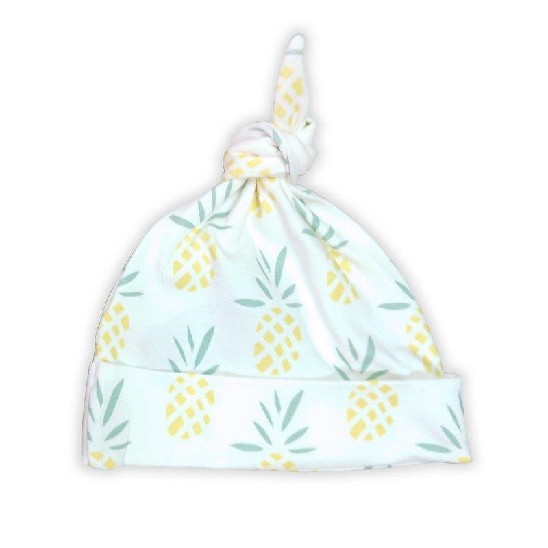 【Deux Filles有機棉】鳳梨圖案帶結嬰兒帽
