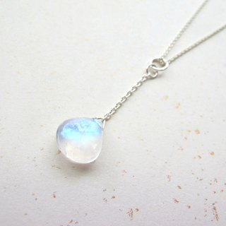 "onion-bulb Hand made Natural Stone Series - ""Necklace Series - Blue Moon Water"" - Moonlight Stone ┌925 Silver"