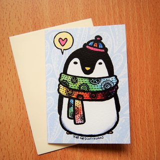 Universal small card - penguin