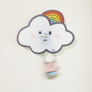 Clock _ Rainbow Swing Clock on the cloud _4 models