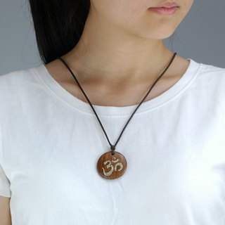 Wooden Aum necklace Wood Pendant