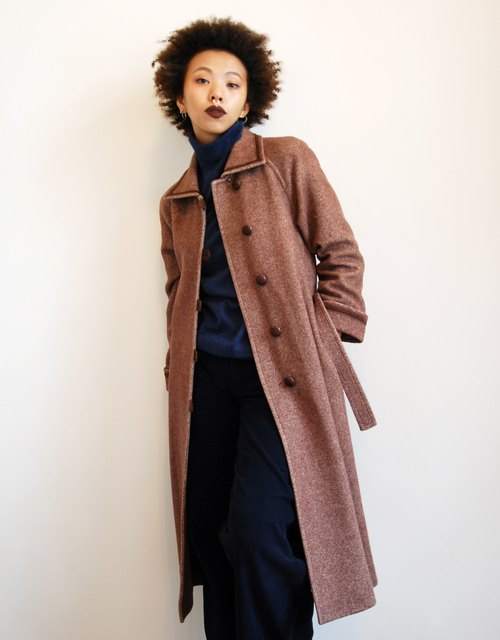 Pumpkin Vintage. Old coat shoulder coat