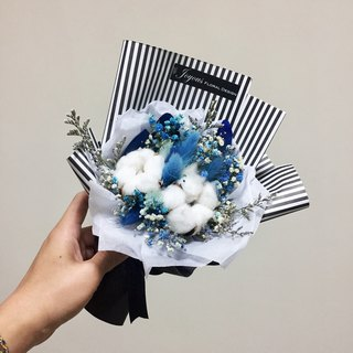 // To our youth // British Blue graduated cotton dry hand-made small bouquet / graduation ceremony sister gift bouquet dry bouquet
