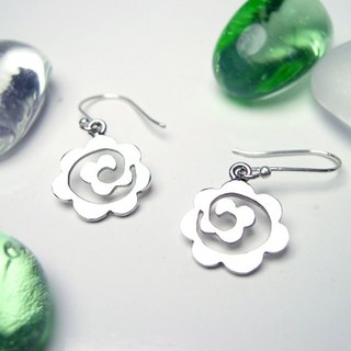 Cloud-like Flower sterling silver earrings