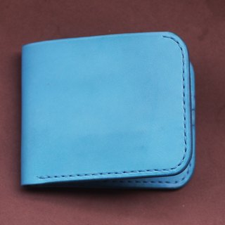 Limit the amount of hand-advanced Italian leather L-shaped turquoise wallet (multicolor selection)