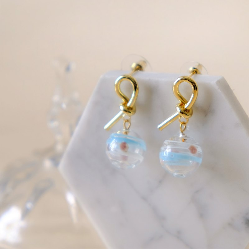 ALYSSA & JAMES 手工琉璃珠耳環