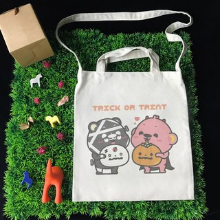 [Halloween Special] Illustrator Aojia Monkey Trick or Treat Wenchuang Wind Straight Canvas Bag