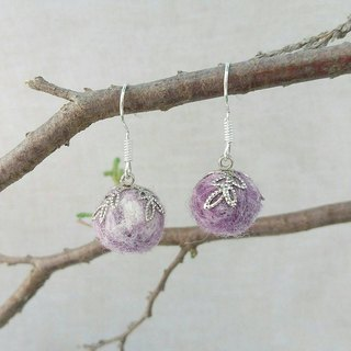 Grapes - Handmade Felt Earrings (Clip-on Available)
