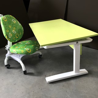 POPO│Children's manual lifting table (buy table to send chair) │ colorful green