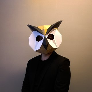 3D Paper Model_Owl Mask_DIY Kits_Hand-made Combination