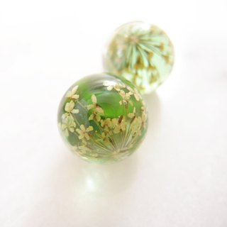 Fireworks. Green - clip earrings, pin earrings - all three styles