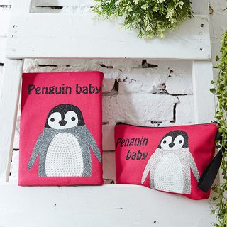 Adorkable series fabric book cover&makeup bag-Penguin baby