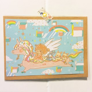 Postcard / Rainbow Unicorn