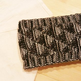Lan hand-made knit headband triangle weave (duplex black)