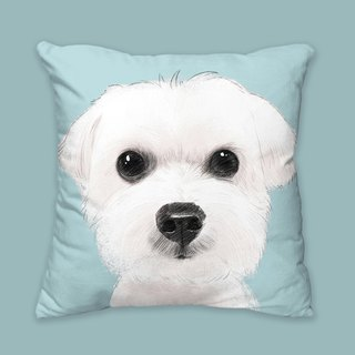 I will love you forever classic Maltese dog animal pillow / pillow / cushion