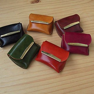 Bread purse handmade leather vegetable tanned leather