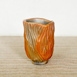 Wood fired pottery. Rock Mountain Cup Teacup 3