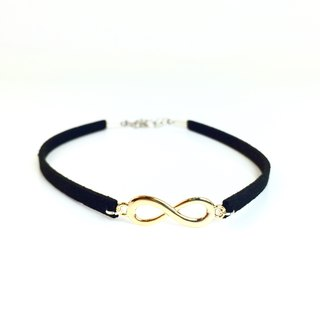 Golden infinity symbol necklace