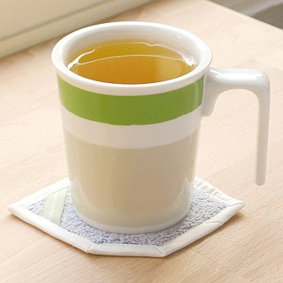 [Good color office] green bamboo kiss mug cotton coasters ceremony