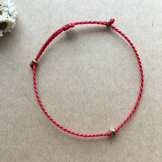 Brass square cut red line fine bracelet silk wax line redline Brazilian wax line