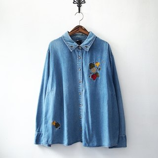 Banana Flyin '| vintage | long-sleeved denim shirt tannin
