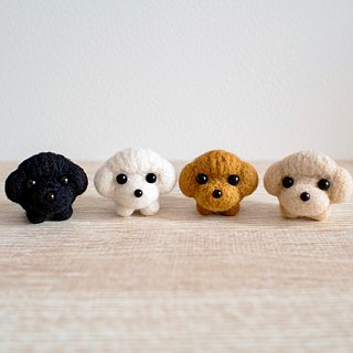 Petwoolfelt - Needle-felted Poodle accessories