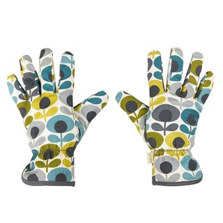 British import Wild & Wolf and Orla Kiely jointly designed retro flower totem gardening gloves