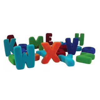 US Rubbabu natural latex three-dimensional English alphabet (uppercase) - - Biodegradable infant green toys
