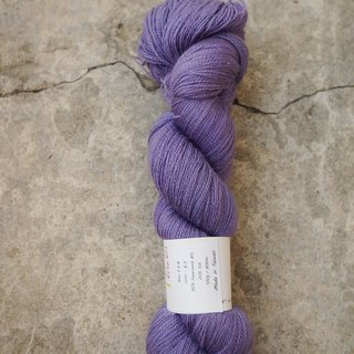 Hand-stitched lace thread. Blue-violet. (SW bfl / Silk / Lace)