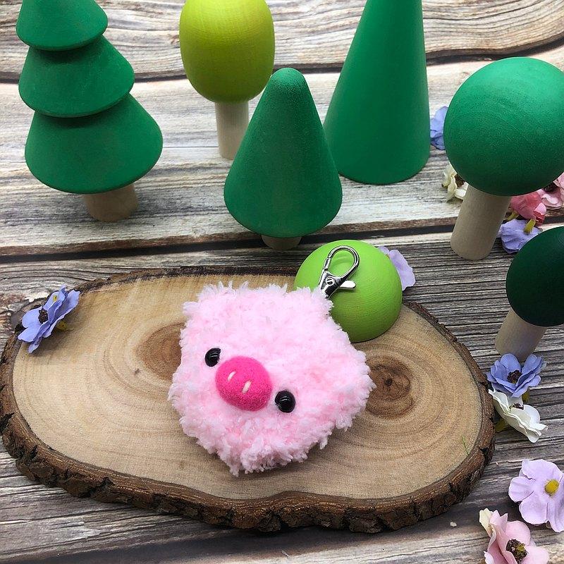 小豬-gogoro鑰匙套 電動機車鑰匙套 鑰匙包 毛線編織鑰匙圈