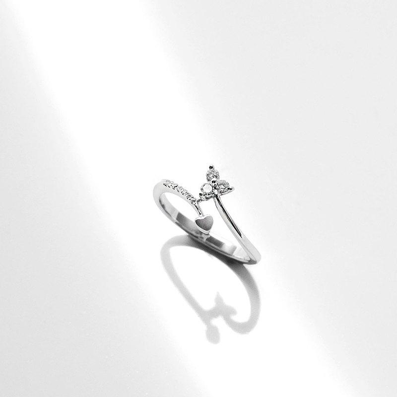 18K金鑽戒 750手工製作 天然鑽石 浪漫-啟程-
