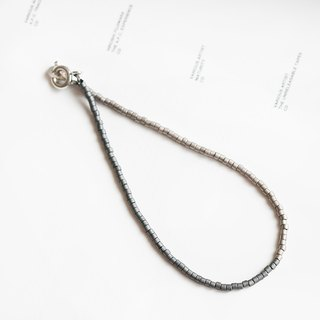 "Cold City URBAN CHIC Metal Pearlescent Scrub Two-color Gray Beaded Bracelet ""Small Chain Club"" BMK037"