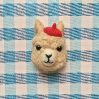 Alpaca - hand-made wool felt pins